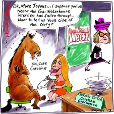 Women's Weekly Gai Waterhouse More Joyous Caroline Overington Media cartoon 2013-05-20