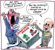Ben Bernanke Quantitative Easing stock market cartoon 2013-06-08