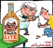 Rudd pronouncement on productivity amounts to Hawke Lite cartoon 2013-07-12