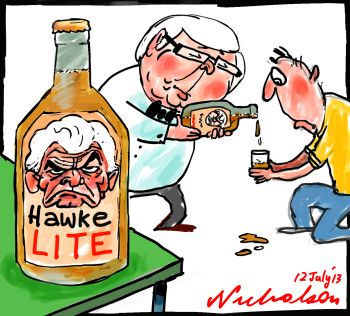 Rudd pronouncement on productivity amounts to Hawke Lite cartoon 2013-07-12