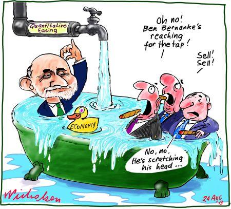 Ben Bernanke Quantitative Easing taper stock market volatility 2013-08-24