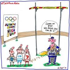 Olympics TV rights IOC sets bar high media sport cartoon 2013-09-16