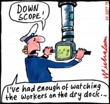Collins subs in deep water cartoon 2013-09-25