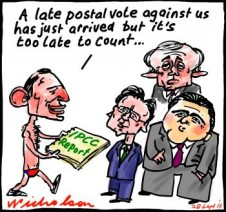 IPCC late vote Abbott Turnbull Hunt Hockey global warming enviironment cartoon 2013-09-28
