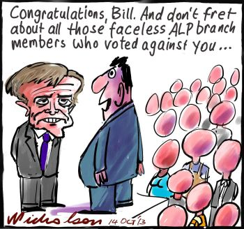 Bill Shorten elected Labor leader over Albanese poor vote in branches faceless 2013-10-14