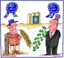 GrainCorp sale to ADM blue ribbon event Business cartoon 2013-11-09