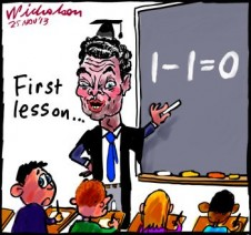 Christopher Pyne undoes Gonski cartoon 2013-11-25