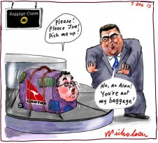 Qantas Alan Joyce not baggage of Joe Hockey 2013-12-07