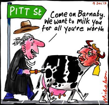 Barnaby Joyce supports Pitt Street farmers 2013-12-09