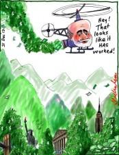 Bernanke taper Quantitative Easing to continue cartoon Business 2013-12-21