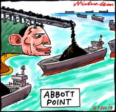 Tony Abbott Point coal terminal cartoon 2013-12-27