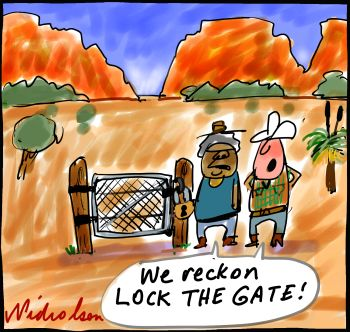 coal seam gas in NT cartoon 2013-12-30