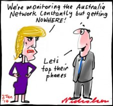 Australia Network Julia Bishop phone tapping Asia cartoon 2014-01-02