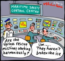 Chris Turney Antarctic tourist ship stuck in ice harmony cartoon 2014-01-06