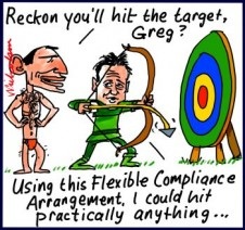 Abbott Hunt emissions target could hit anything global Warming cartoon 2014-01-07