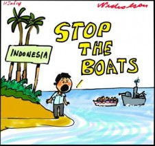 Asylum seekers Boat People Abbott tow backs Indonesia wats STOP THE AUSTRALIAN NAVEY BOATS 2014-01-11