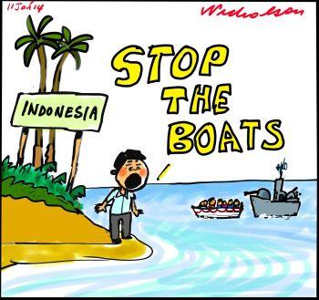 Asylum seekers Boat People Abbott tow backs Indonesia wats STOP THE AUSTRALIAN NAVEY BOATS 2014-01-11