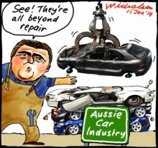 Joe hockey squash cars GMH Toyota Ford cartoon 2014-01-15