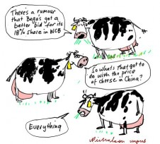 Bega Warrnambool Cheese and Butter possible new buyer in China mooted Business cartoon unpublished 2014-01