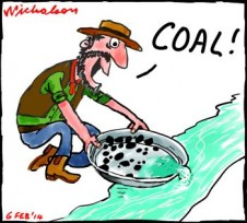 Coal rediscovered as high gas prices  force eureka moment on some generators cartoon 2014-02-06