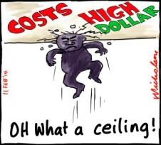 Toyota to close Aussie works ceiling cartoon 2014-02-11