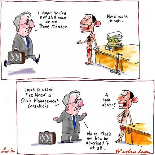 ABC Mark Scott hires PR consultant Media cartoon 2014-03-03