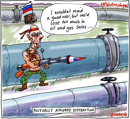 Putin threat of war in Ukraine oil gas pipelines Business 2014-03-08