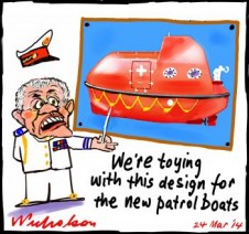 PATROL BOATS NEW DESIGN Scott Morrison cartoon 2014-03-24