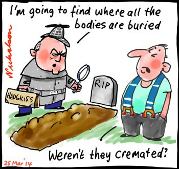 Hadgkiss FWBC wants open cold cases business watchdog unions cartoon 2014-03-25