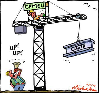 Building union tactics CFMEU costs up cartoon 2014-04-02