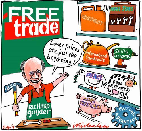 Richard Goyder Westfarmers CEO Bunnings  G20 Free Trade steering committee 2014-04-05