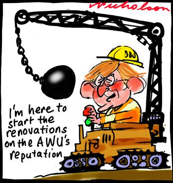 Martin Ferguson will give evidence on AWU slush fund at Royal Commission wrecking ball cartoon2014-04-07