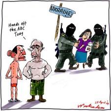Putin journalistic freedom joke Media cartoon 2014-04-28