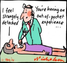 Medical patients out of pocket budget cartoon 2014-05-11