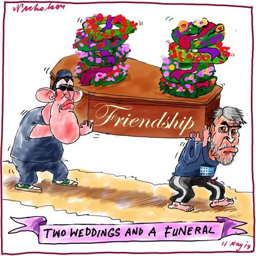 James Packet David Gyngell brawl Media cartoon 2014-05-12