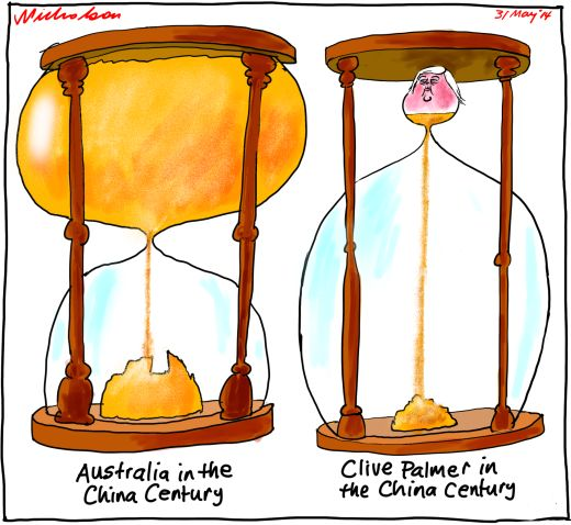 Clive  Palmer in China century Business cartoon 2014-05-31