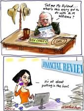 Ken Cowley retracts comments to AFR story Media cartoon 2014-06-02