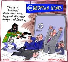 Draghi ECB European Central Bank negative rates Business cartoon 2014-06-07