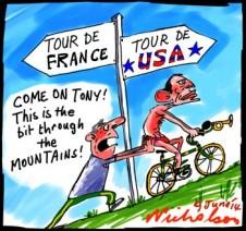 Abbott overseas Tour do France Tour de USA p1 cartoon 2014-06-09