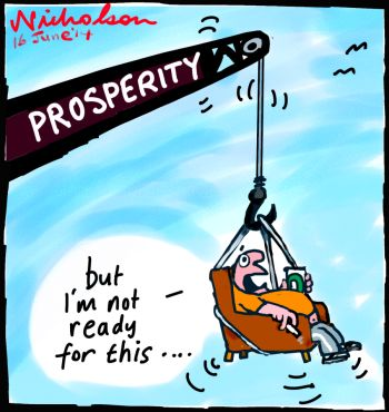 Prosperity HILDA report cartoon 2014-06-16