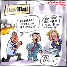 Stay with The Mail Whittaker $1 Media cartoon 2014-06-16