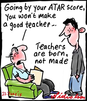 Prospective teachers poor results cartoon 2014-06-23