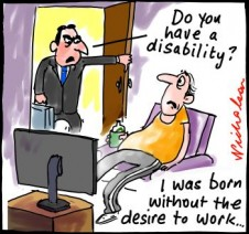 MacLure Report on tightening of disability pension cartoon 2014-06-39