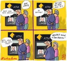 Commonwealth Bank CBA Narev apology Business cartoon 2014-07-05