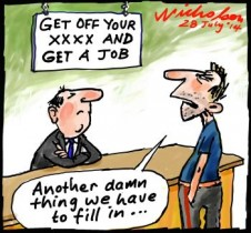 Dole tightened get off your arse cartoon 2014-07-28
