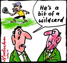 Brad Mousley tennis star faces 2 year ban wildcard cartoon 2014-08-04