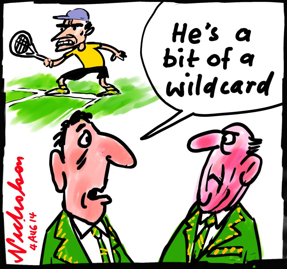 Brad Mousley tennis star face 2 year ban wildcard cartoon 2014-08-04