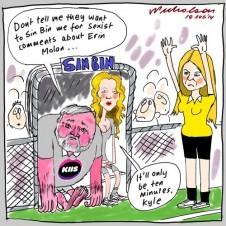 Kyle Sandilands sexist questions to Molan Media cartoon 2014-08-18