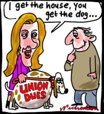 Cathy Jackson HSU inquiry divorce settlement cartoon 2014-08-25