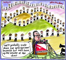 Joyce flags Overseas Qantas sale business cartoon 2014-08-30